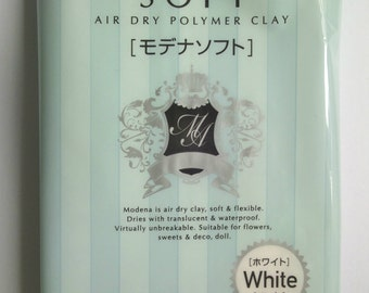 Modena Soft Clay air dry polymer clay white 150g