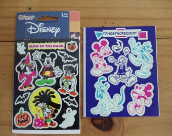Mickey Mouse and Friends Phosphorescent Stickers and Glow In The Dark Stickers two sheets