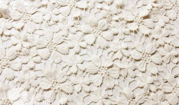 Chic Bridal Lace Fabric Ivory Lace Fabric Retro Daisy Lace