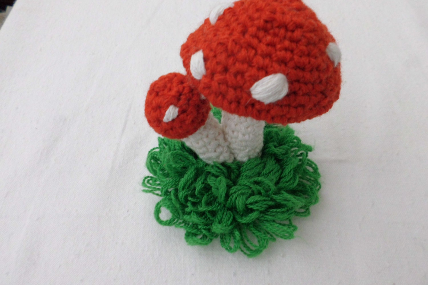 Amigurumi red mushrooms crochet mushrooms decor toadstool