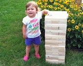 """Tumbling Timbers """"Larger"""" Set Handmade from solid wood PERSONALIZATION Options Now Available"""