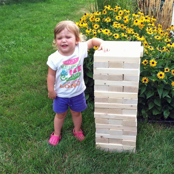 "Tumbling Timbers ""Larger"" Set Handmade from solid wood PERSONALIZATION Options Now Available"