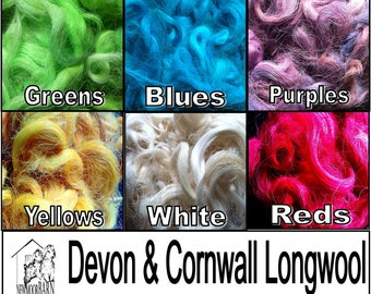 Ethical Wool Tops 50g- Devon and Cornwall Longwool -  Hand prepared