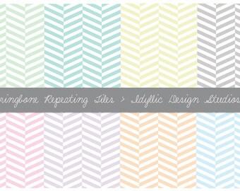 Website Background - Herringbone Pattern in Pastel - Blog, Website, Twitter, Scrapbooking