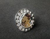 RSVD for Sam - Shabby Modern Chic Glass Crystal Dresser Knobs Shiny Clear Diamond Cut 10 Pcs