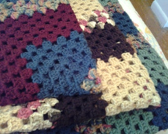 Extra-Large Queen Size Granny Square Afghan - See Shop Announcement for Coupon Code
