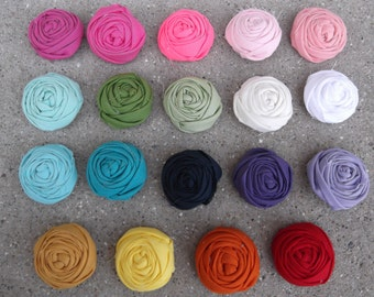 5 Rolled Roses......You choose your colors.