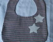 Baby Bib Stars & Stripes Bib Red, White, Blue Stripes White Stars