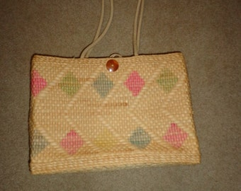 NIce vintage wicker bamboo purse