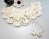 FREE Crochet Pattern Lace collar pattern  peter pan collar pdf pdf crochet pattern easy crochet pattern