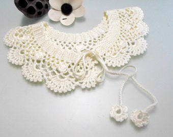 FREE Crochet Pattern Lace collar pattern  peter pan collar pdf pdf crochet pattern easy crochet pattern