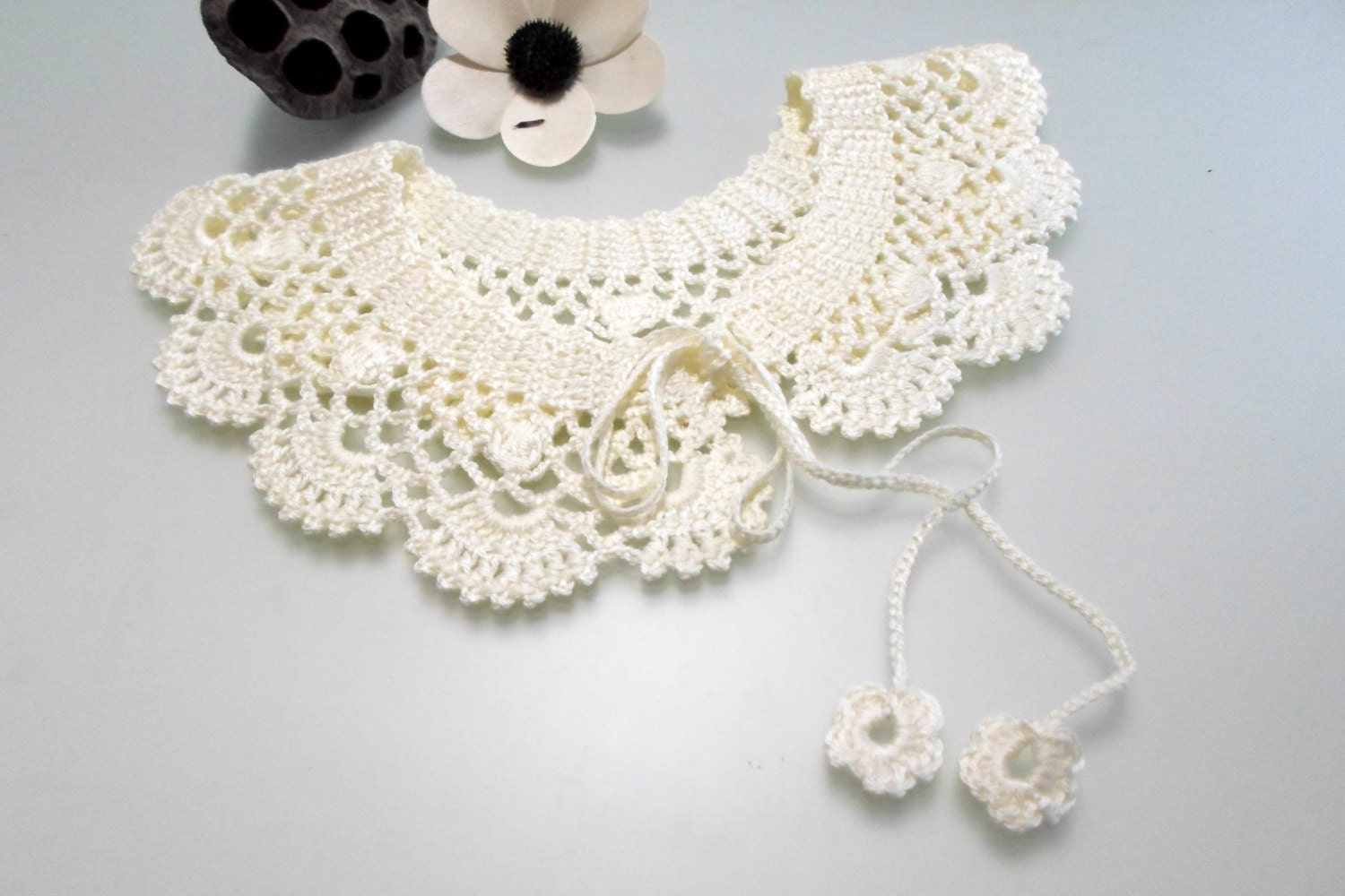 Crochet pattern lace collar pattern peter pan collar pdf pdf zoom bankloansurffo Image collections