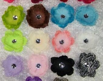 "Assorted Pack of 18 - 4"" Peonies w/ Rhinestone Center - Silk Peony Flowers Heads - Wholesale Silk Peonies - Silk Peony Flowers - Detash"
