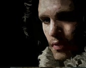 Unframed Poster 11 x 17 inch Jon Snow of the Game of Thrones Digital Painting