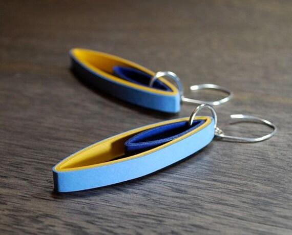 St anniversary jewelry modern paper earrings by