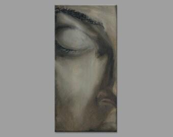Digital Art Print of Original Painting - Portrait - Contemporary Art - Large Wall Art - oil on canvas Giclee