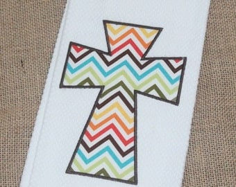 Simple Chevron Cross Towel
