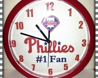 Personalized Philadelphia Phillies Wall Clock