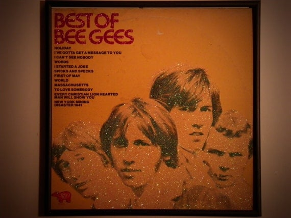 Glittered Record Album - The Bee Gees - Best Of The Bee Gees