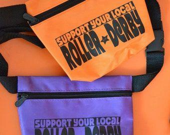 Support Your Local Roller Derby Fanny Pack or Hip Bag