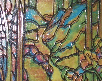 "Miniature Stained Glass Panel, 1"" Scale"
