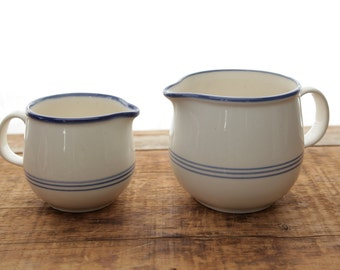 Set of Two Ceramic Pitcher Pourer Bowls