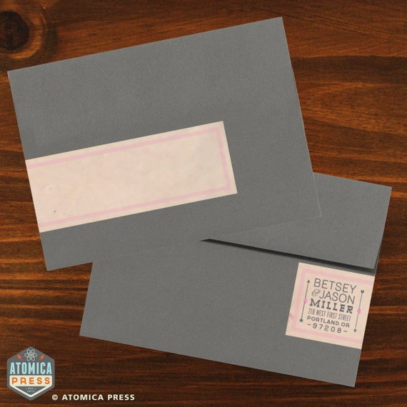 DIY Printable Personalized Envelope Wrap Around By