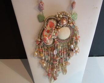Beaded Fringed Necklace
