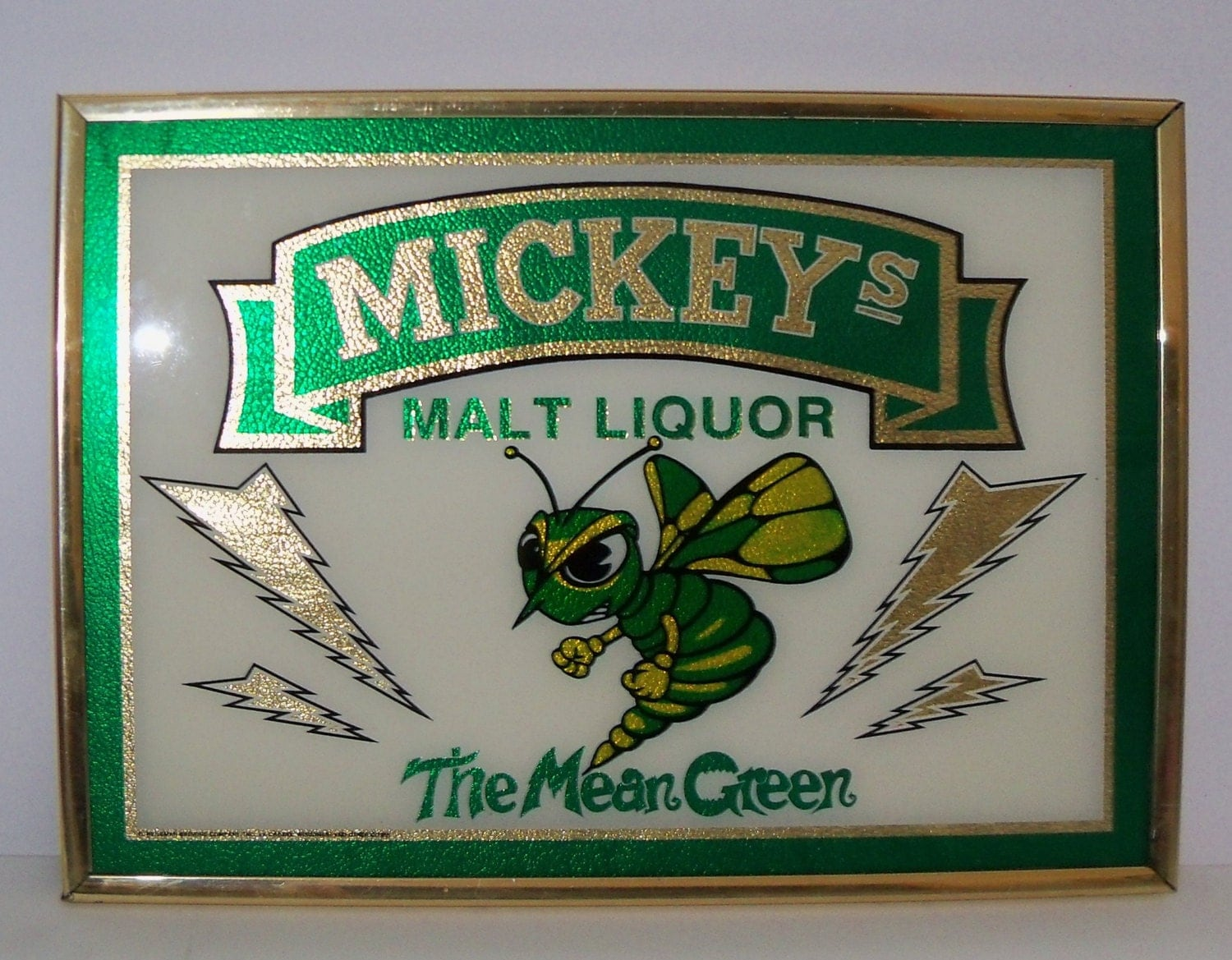 Mickeys Malt Liquor Sign The Mean Green