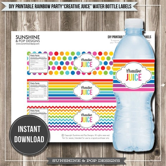 Items Similar To Instant Download Rainbow Art Party