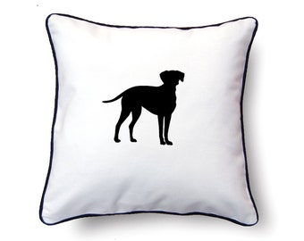 Dalmatian Pillow 18x18 - Dalmatian Silhouette Pillow - Personalized Name or Text Optional