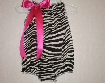 Girls Zebra Bubble Romper Avail. in Sz newborn to 3T