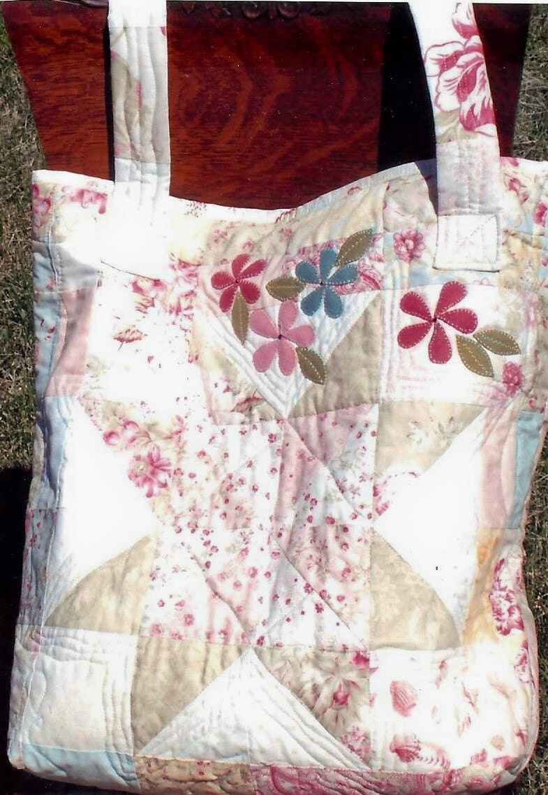 Quilted Knitting Bag Pattern : Large quilted tote bag pattern only from