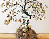 Custom Order Mini BONSAI GEM TREE Sculpture  Pick Your Gemstones, Wire & Base
