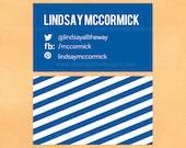 Calling Card Social Media Business Card Calling Card Stripes
