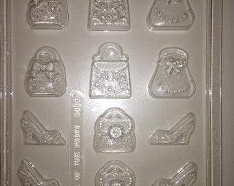 D107 Chocolate Novelty Mold - Hand Bags and High Heels
