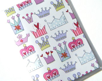 Passport Case Cover Holder -- Princess Crowns