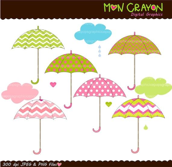 Pink Umbrella Clip Art Items similar t...