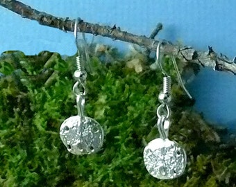 Sand Dollar Sterling Silver Earrings, Small
