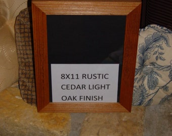 8x11 magazine frame solid cedar wood picture photo craft oak finish country rustic display