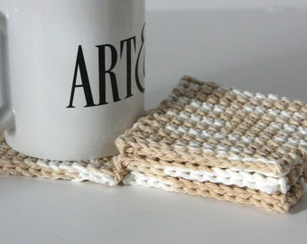 Tweed Crochet Coasters Set of 4 for the Home