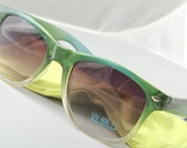 Retro Crystal Blend frame 80's style Sunglasses with Gradient lenses