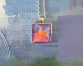 Sweet and Swirly Square Pendant