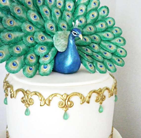 peacock feather mold for fondant