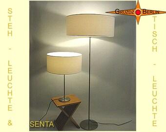 SET: Floor lamp table lamp SENTA  creame coloured lamps