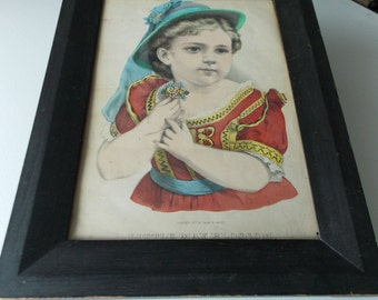 CURRIER and IVES  ORIGINAL   Little May Blossom    Circa 1874   Mint       280