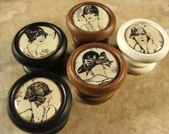 Vintage Ladies Decorative Cabinet Knobs...Price is for 1 Knob (Quantity Discounts Available!)