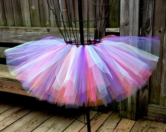 Ashtyn Tutu - Rave Tutu- Birthday Tutu - Available in Infant, Toddlers, Girls, Teenager, Adult and Plus Sizes