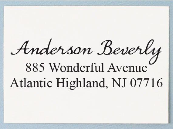 Calligraphy Address Stamp Return Address Stamp Custom