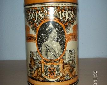 Antique Vintage Dutch Biscuit Tin Queen Wilhelmina 1938